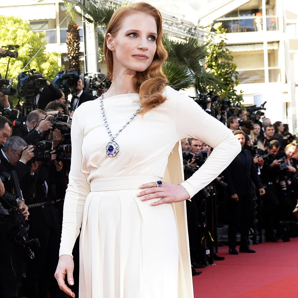 Jessica Chastain Wears Elizabeth Taylor's Jewels to Cannes Cleopatra Premiere