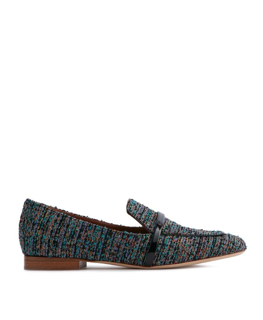 Malone Souliers Jane Tweed Flat Loafers