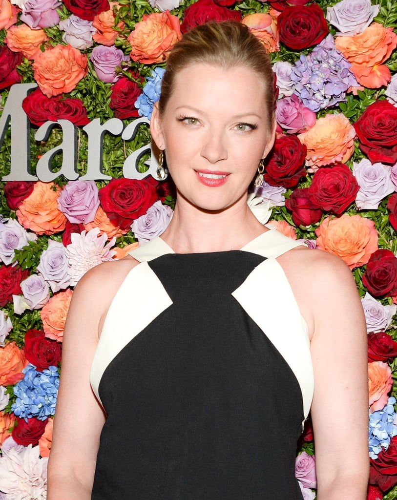 Gretchen Mol went with a classic nighttime beauty formula: red lips, lots of lashes, and a sleek updo. You can't lose with such a timeless look.