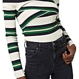 Topshop Striped Off the Shoulder Top ($75)