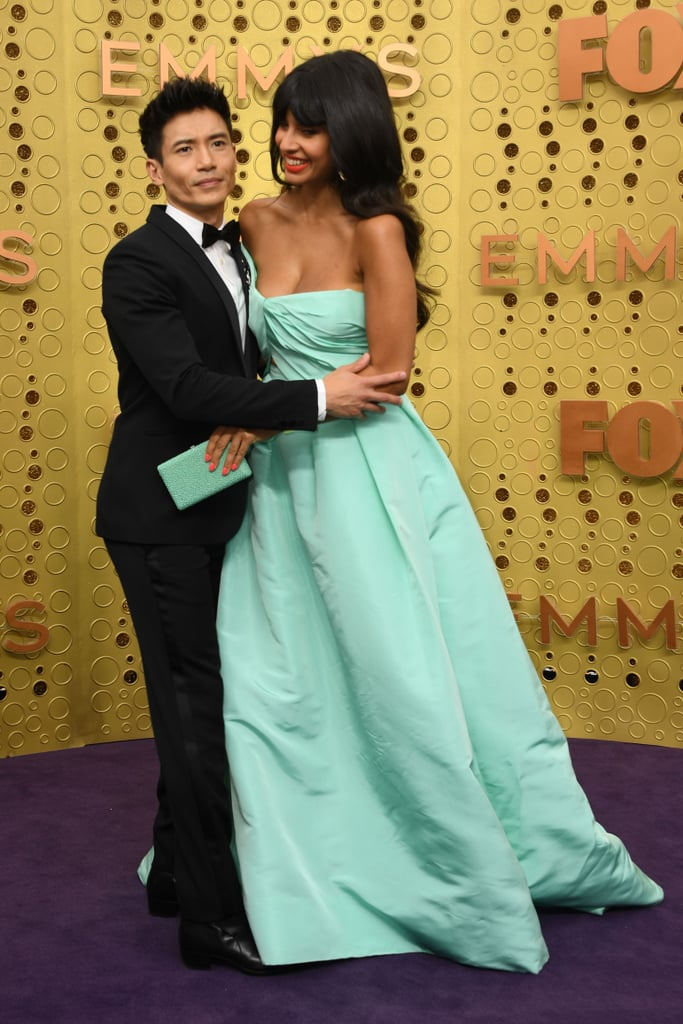 Jameela Jamil and Manny Jacinto at the 2019 Emmys