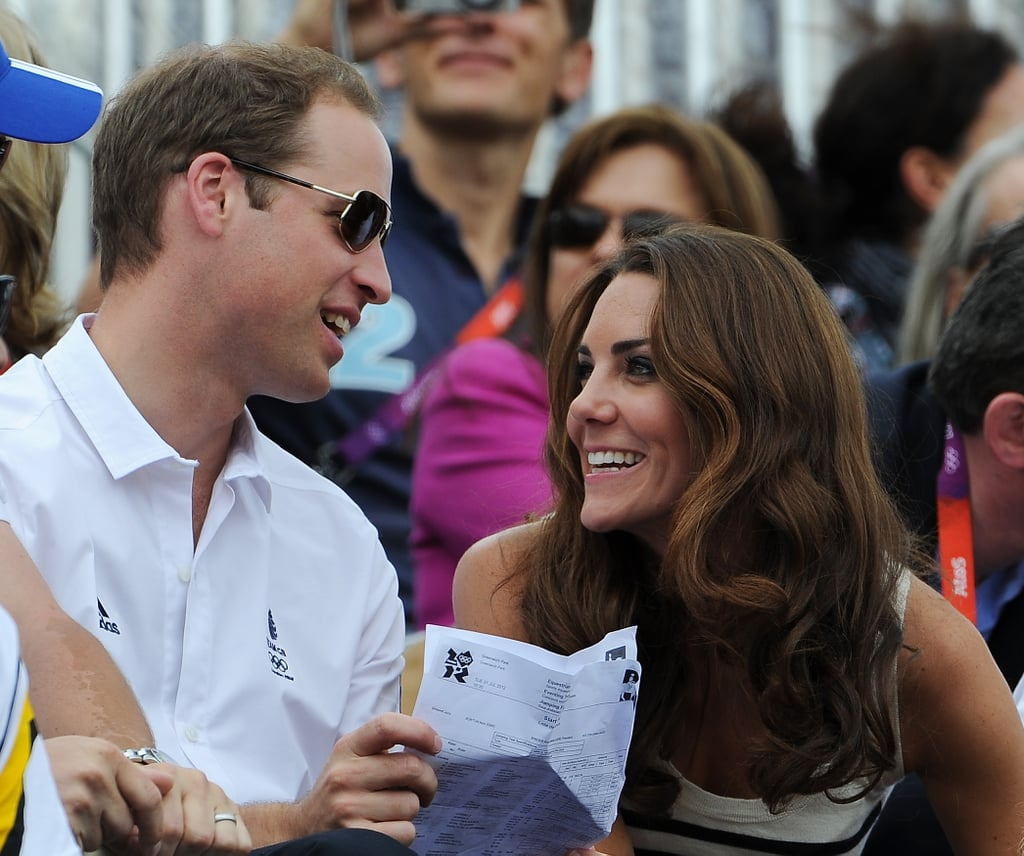 The Duke and Duchess of Cambridge shared a laugh.