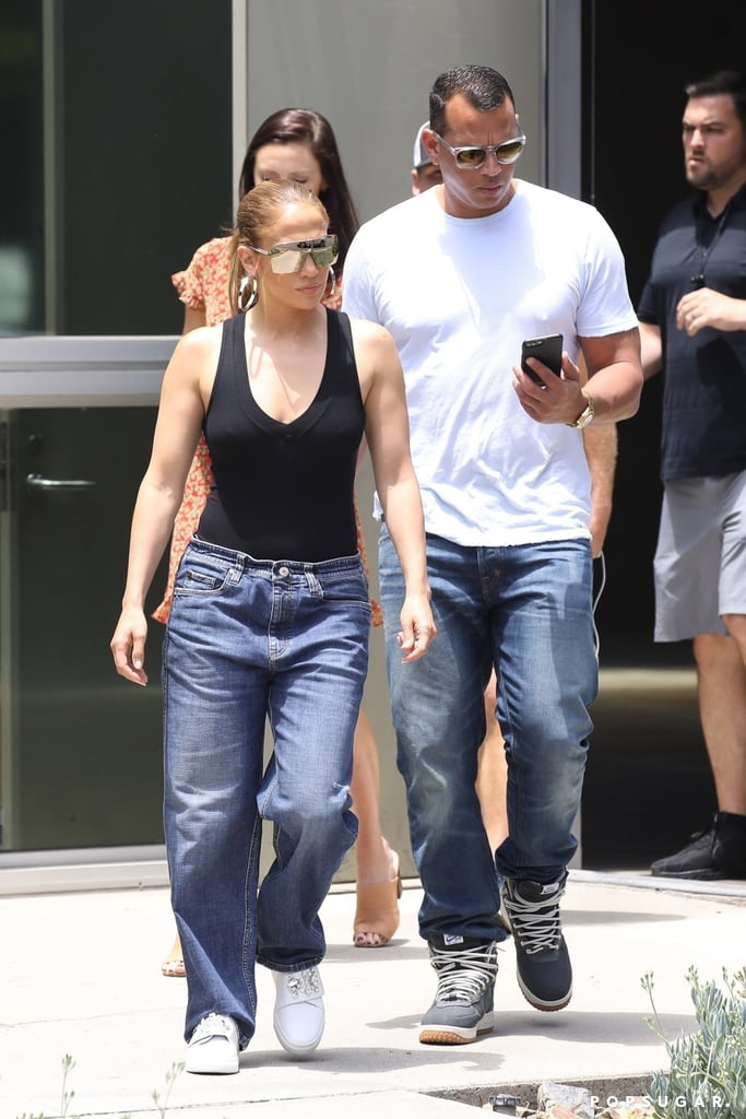 7d5e9c31f55 Jennifer Lopez and ARod Denim July 2018
