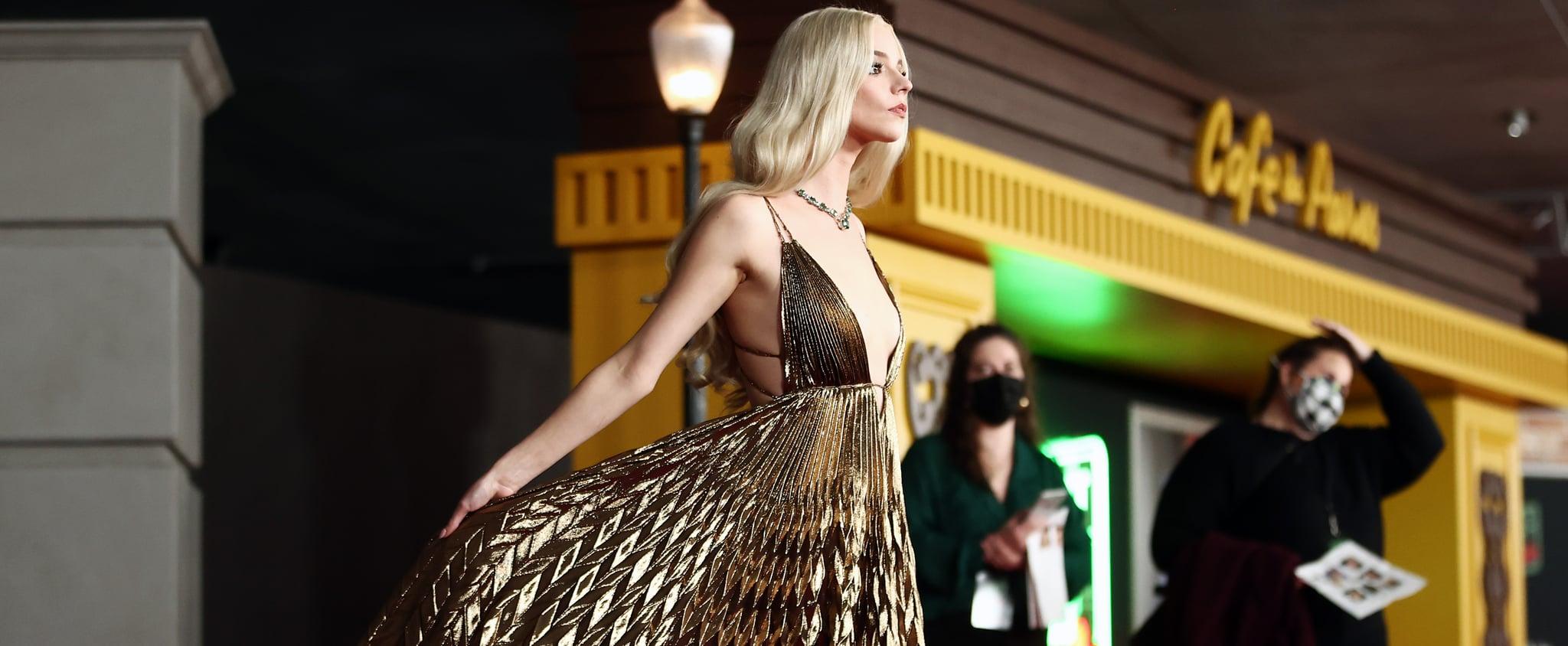 See Anya Taylor-Joy's Dior Haute Couture Gold Lamé Dress