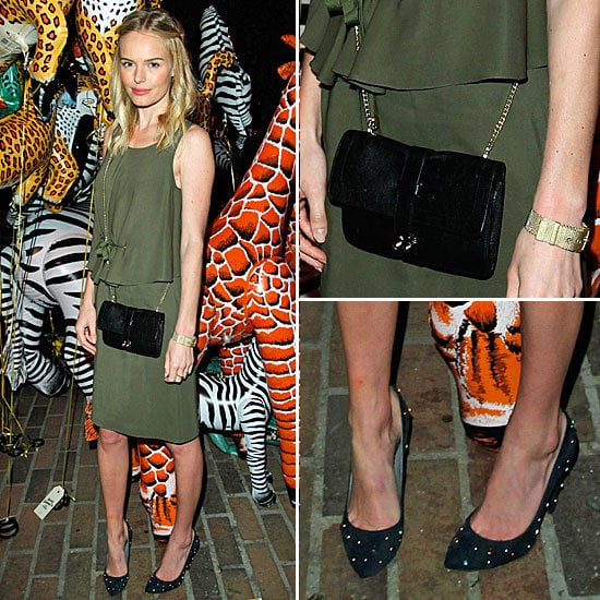 Pictures of kate Bosworth at the Mulberry Spring Summmer 2012 Party at Chateau Marmont: Steal Her Cool Khaki Look!