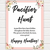 Pacifier Hunt Printable Baby Shower Game