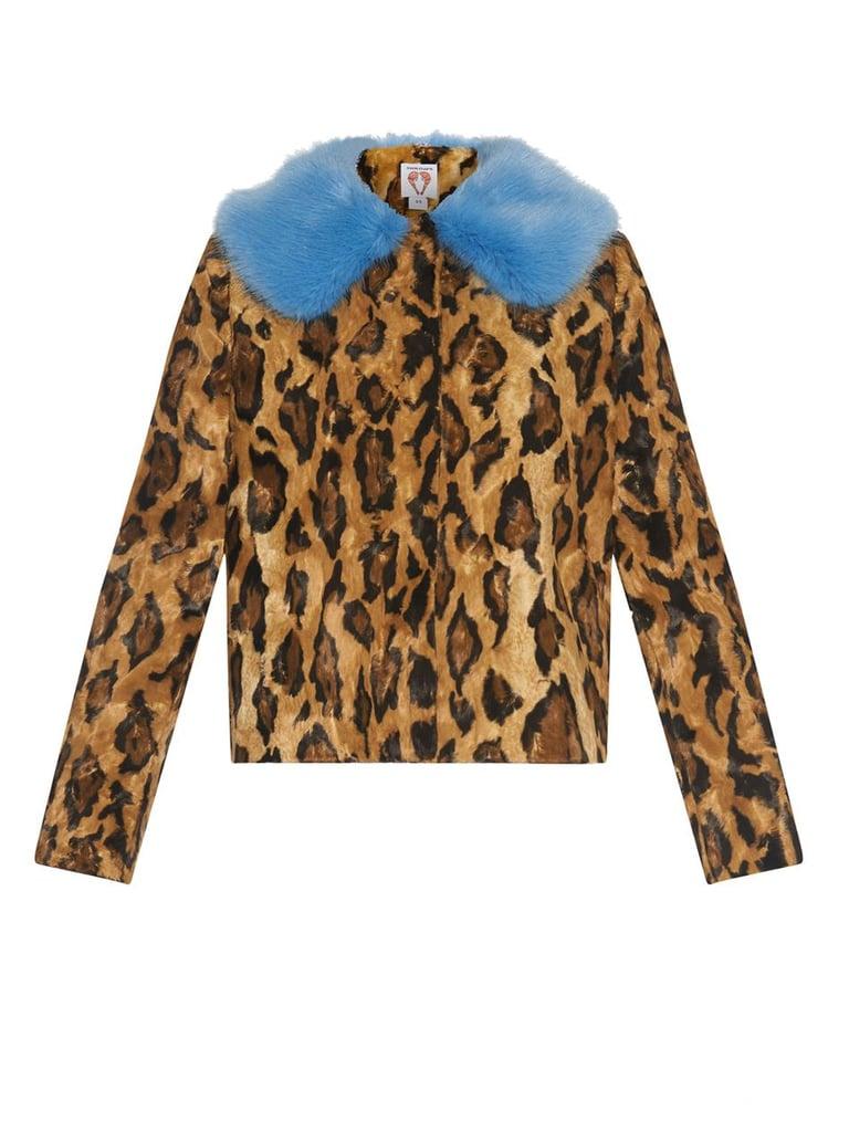 Shrimps Leopard-Print Faux-Fur Coat