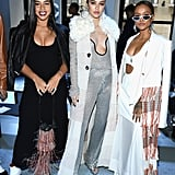 Hannah Bronfman, Delilah Belle Hamlin, and Karrueche Tran at 3.1 Phillip Lim Fall 2019