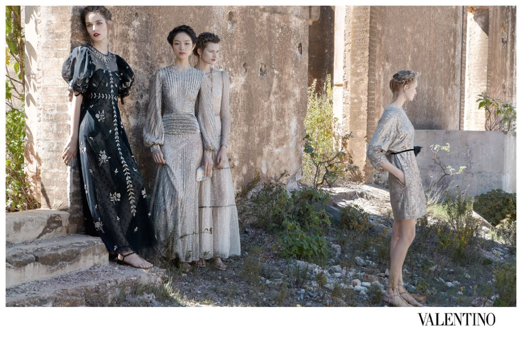 Valentino's Spring ads evoke a sense of nostalgia and romance. Source: Fashion Gone Rogue