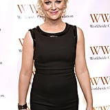 Amy Poehler dressed to the nines for a night out in NYC.