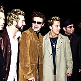 Justin laughed it up with his *NSYNC bandmates at the 2001 People's Choice Awards.