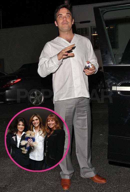 Pictures of Robbie Williams and Ayda Field With The Real Housewives of Beverly Hills as Take That Prepare to Release Kidz