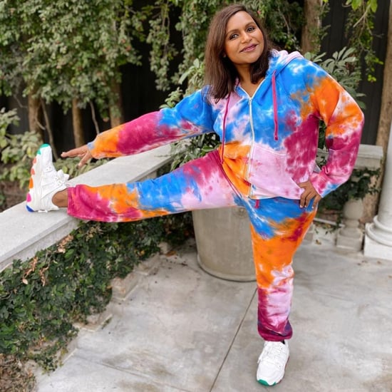 See and Shop Mindy Kaling's Colorful Tie-Dye Sweatsuit Look