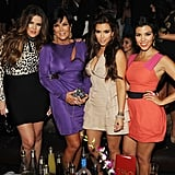 The Kardashians posed for a photo together.