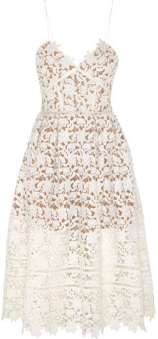 Self-Portrait Floral-Lace Dress