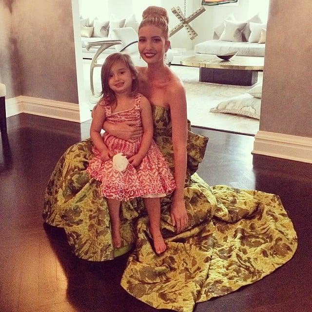 Arabella Kuschner gave Ivanka Trump the seal of approval on her Met Gala gown. Source: Instagram user ivankatrump