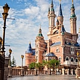 Shanghai Disneyland Enchanted Storybook Castle Zoom Background