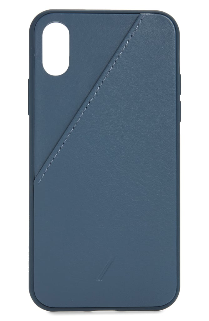 Native Union Clic Leather Card iPhone XS/X Max Case