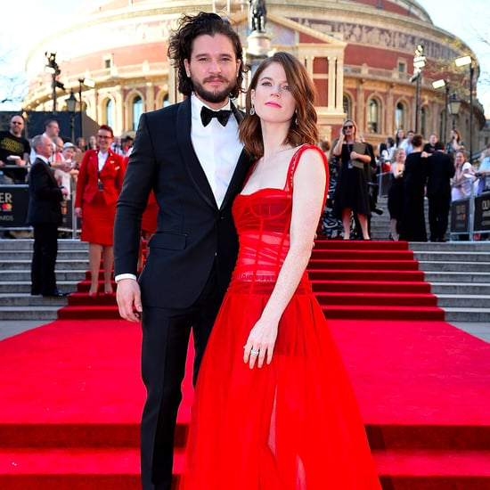 Kit Harington and Rose Leslie at the 2017 Olivier Awards