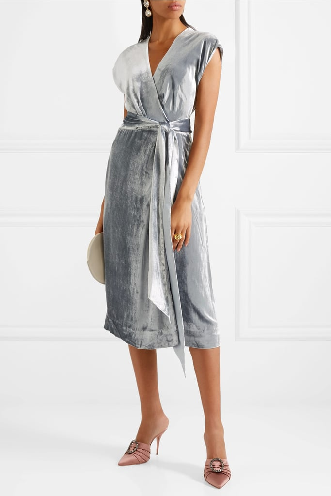 J.Crew Frida Velvet Wrap Dress