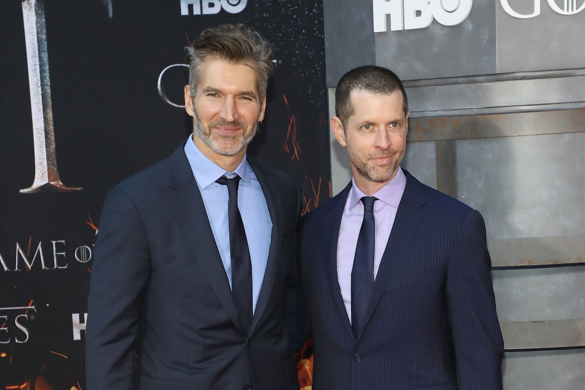 NEW YORK, NY - APRIL 03:  David Benioff and D.B. Weiss attend the Season 8 premiere of