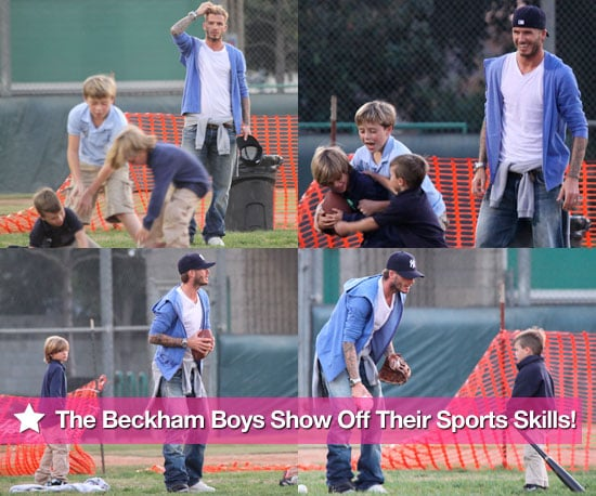 The Beckham Boys Show Off Their Sports Skills!