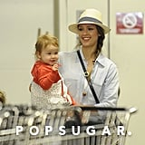 Jessica Alba went to Whole Foods in LA with Haven on Monday.