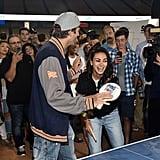 Ashton Kutcher and Mila Kunis at Ping Pong 4 Purpose 2018