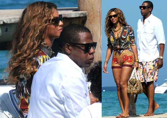 Pictures of Jay-Z and Beyonce Knowles on Vacation in France