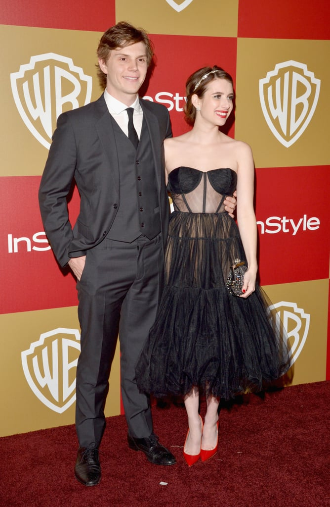 Emma and Evan posed for the cameras at the InStyle and Warner Bros. Golden Globes party in 2013.