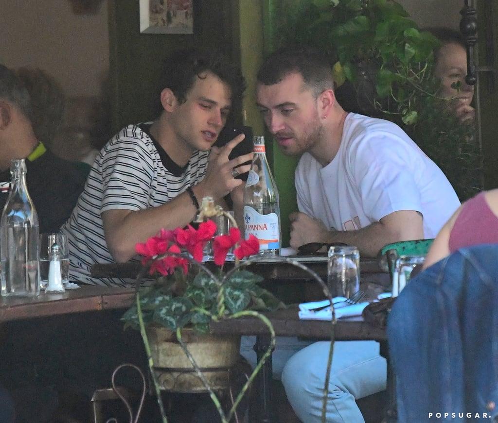 Sam Smith Kissing His Boyfriend Brandon Flynn in NYC