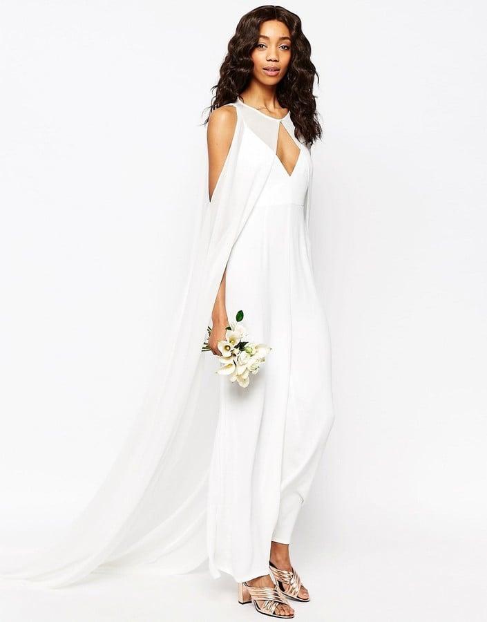 Asos Bridal Jumpsuit With Detachable Cape 255 Wedding Dresses