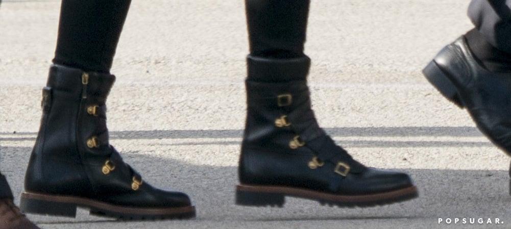 Melania Trump's Black Dior Combat Boots