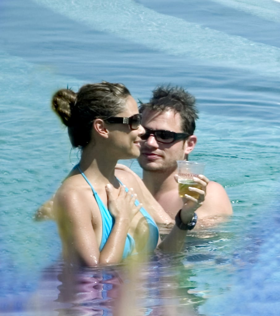 Nick lachey and vanessa minnillo hot tub think, that