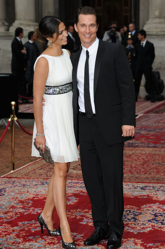 Camila Alves and Matthew McConaughey got fashionable for a Dolce & Gabbana event during Milan Fashion Week in June 2010.