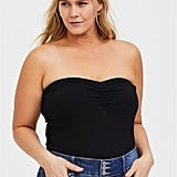 Torrid Black Ruched Foxy Tube Top