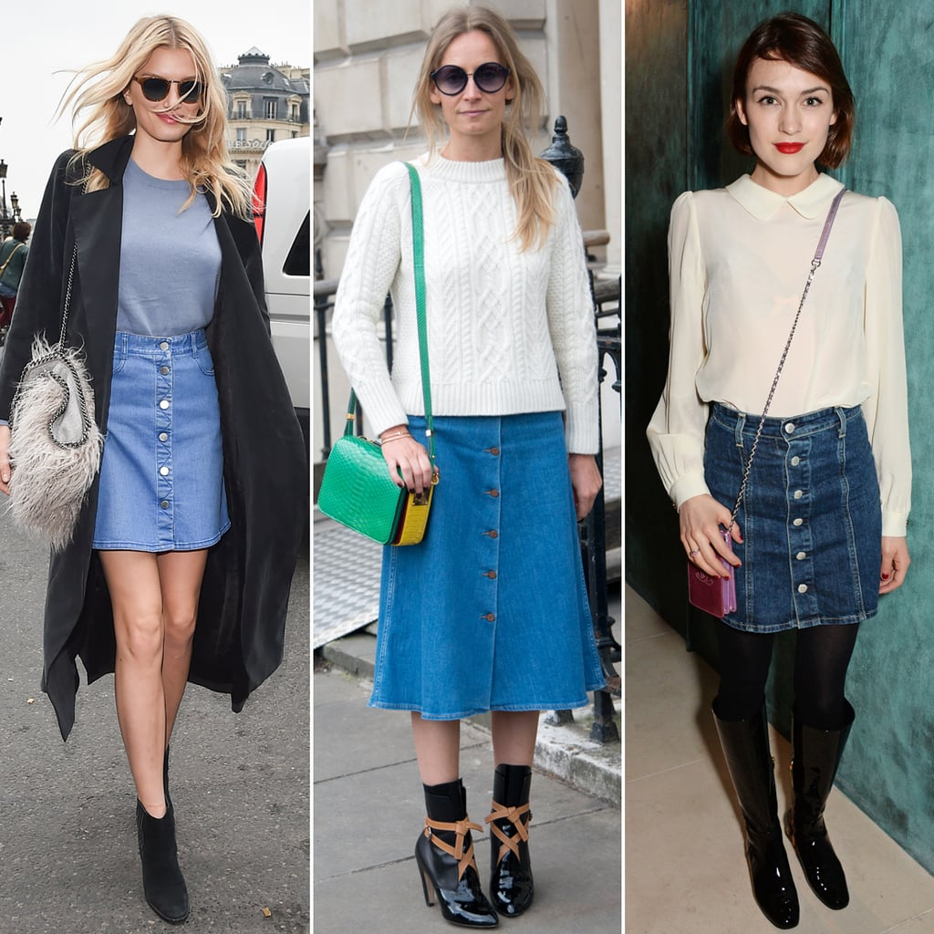 Best Button-Down Denim Skirts For All Budgets