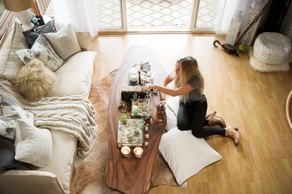 Neutral hues and a tall ceiling give this Hawaiian loft studio big-time tropical elegance.