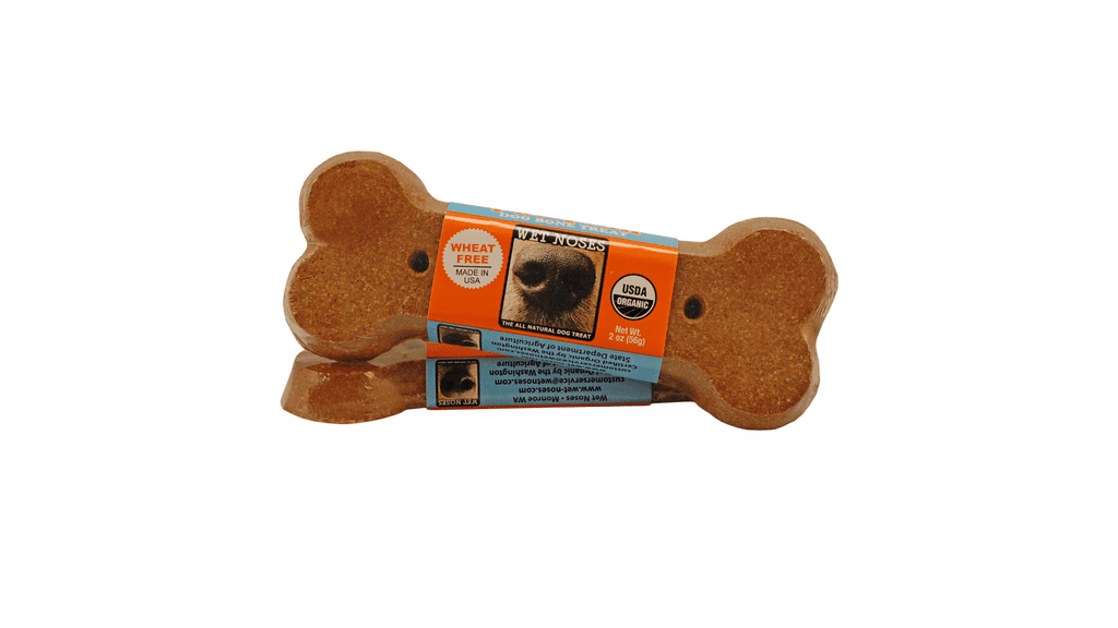 Wet Noses Pumpkin Bone Dog Treat ($2)