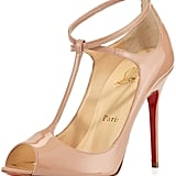 Christian Louboutin Talitha Patent T-Strap Red Sole Pump, Nude ($945)