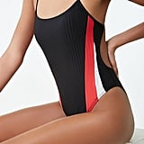 Active Ribbed Colorblock One-Piece Swimsuit