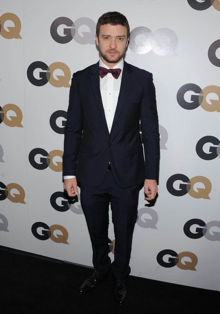We couldnt get enough of justins maroon bow tie at the gq men of we couldnt get enough of justins maroon bow tie at the gq men of ccuart Choice Image