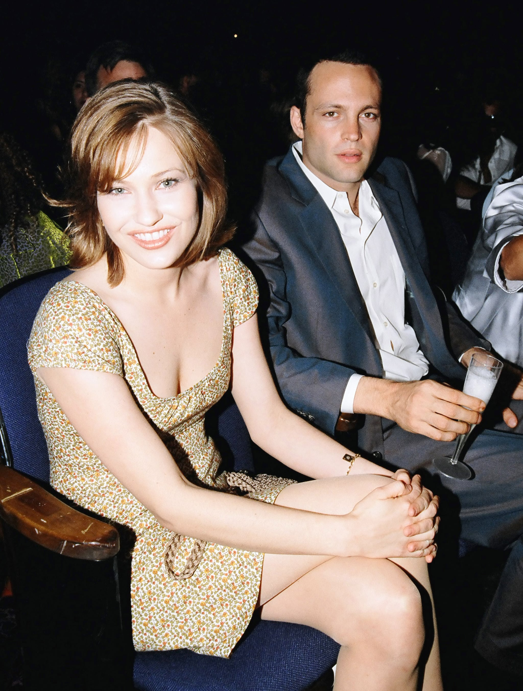 Vince Vaughn sat with Big Daddy's Joey Lauren Adams.