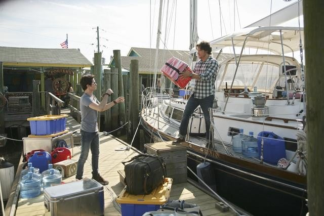 Connor Paolo and Nick Wechsler in ABC&#039;s Revenge.