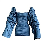 Kylie Jenner's Exact TLZ L'Femme Blue Ruched Dress