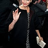 Cameron Diaz arriving to Paris Fashion Week.
