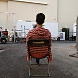 Danny Pudi took some alone time on the set of Community. Source: Twitter user dannypudi
