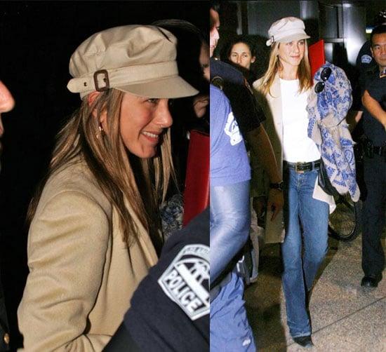 Jennifer Aniston Back From London