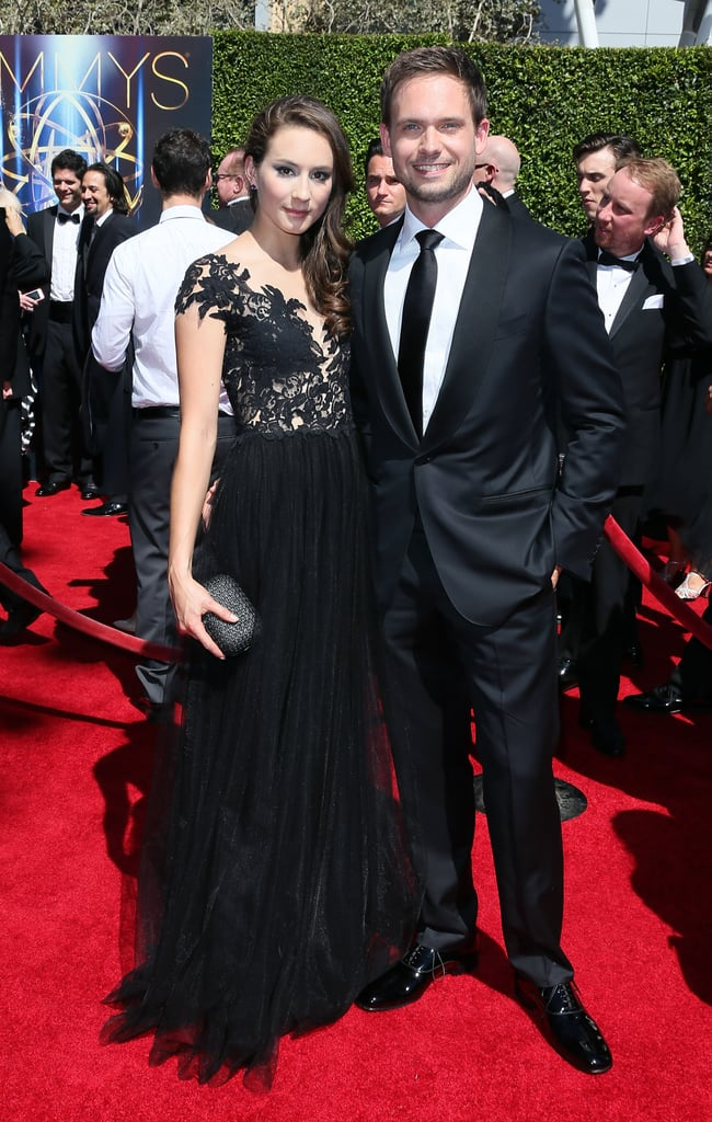 Troian Bellisario of Pretty Little Liars and fiancé Patrick J. Adams of Suits were a red carpet match made in TV heaven.