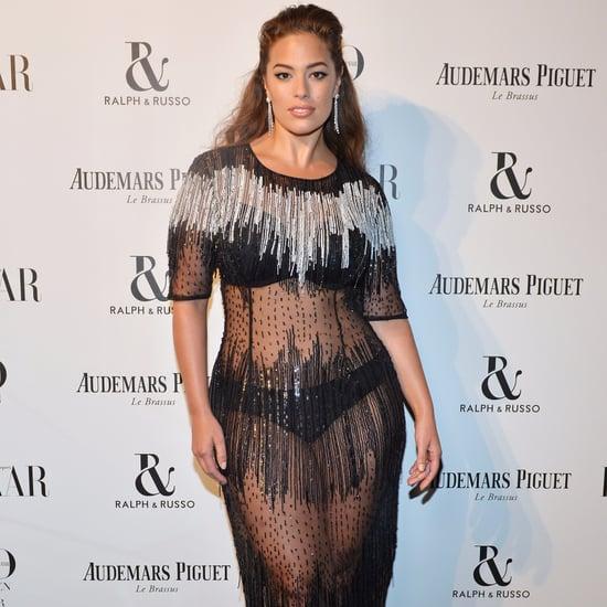 Ashley Graham Sheer Marina Rinaldi Dress